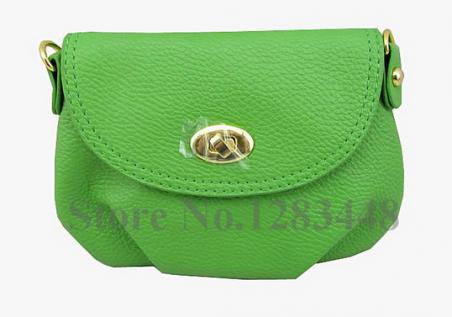Кожаная мини сумка через плечо для женщин