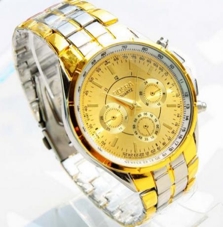 2014 новые оптовая продажа 18 К золота кварцевые наручные часы мужчины люксовый бренд Rosra ювелирные изделия высокое качество