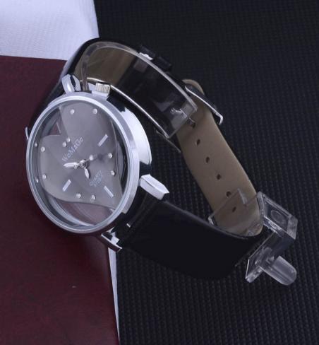 2014 новинка изысканный персик сердца дизайн кожаный браслет часы для женщин леди девушки часы женщины люксовый бренд Atmos часы