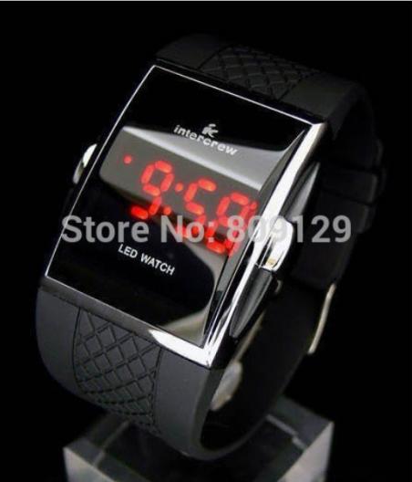 Прямая поставка мужчины из светодиодов наручные часы площадь цифровые электронные мужские часы красный свет для мужчин спортивные часы ( красный )