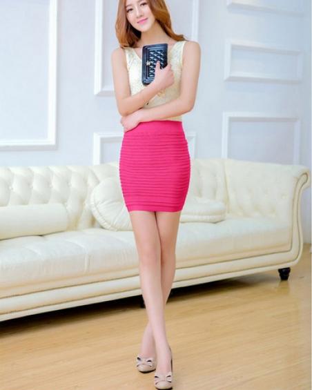 Эластичная юбка, женская сексуальная