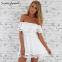 Свободное кружевное платье для женщин