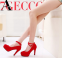Сексуальные европейские туфли с открытым носком для женщин